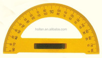 Professional plastic teaching equipment ruler educational protractor ruler with removable handle