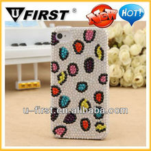 2013 Fashionable Luxury Glitter Leopard Pattern Diamond PC Case For iPhone 4 4S