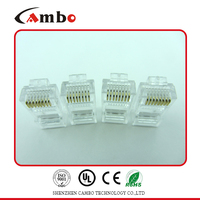 Cat5e CAT6 CAT7 RJ45 Connector For Stranded Solid network cable 8P8C Gold Plated rj45 ethernet connector adapter