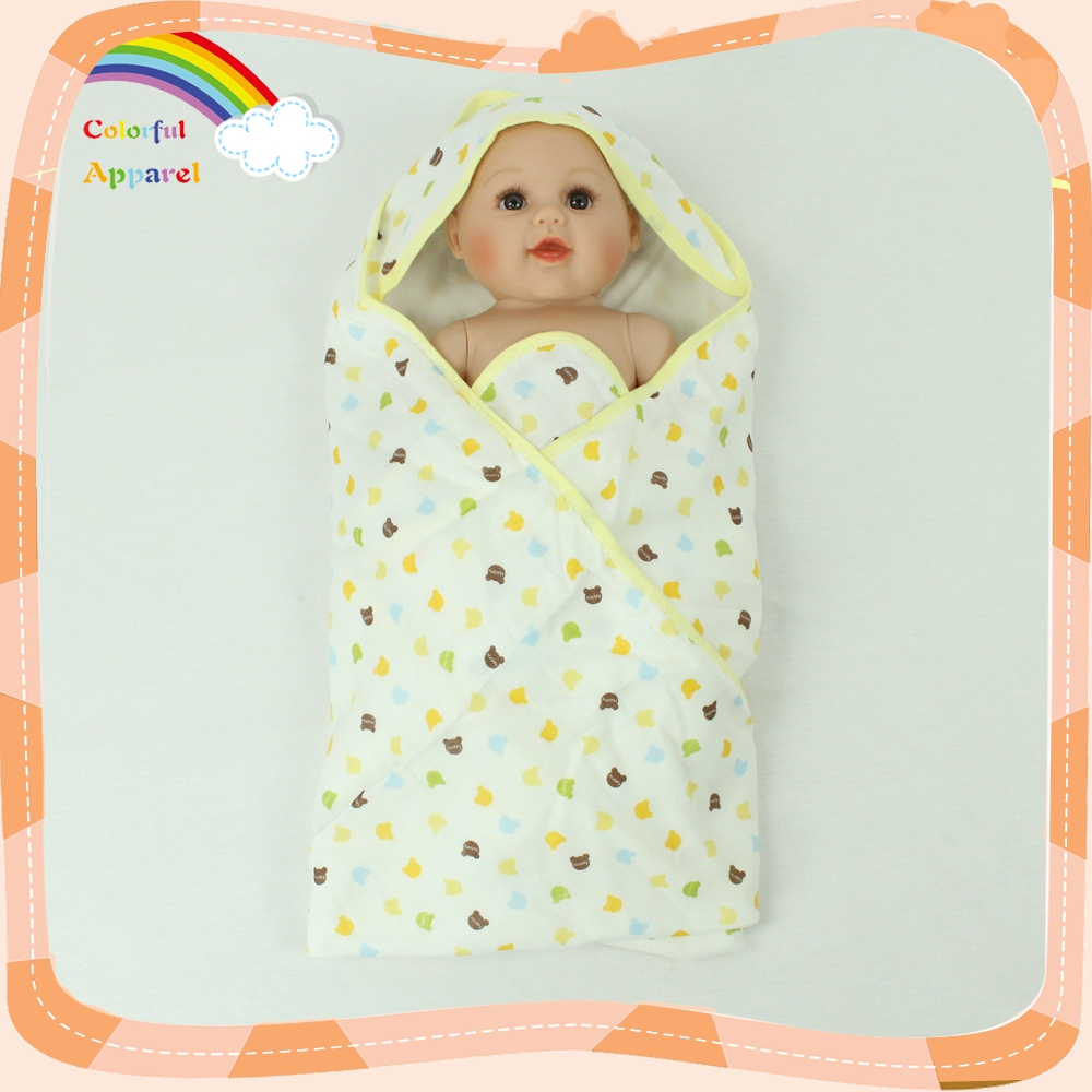 Wholesale soft animal printed swaddle blanket