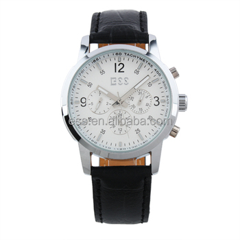 ESS White Elegant Automatic Mechanical Elegance Leather Watch Hands Men WM228-ESS