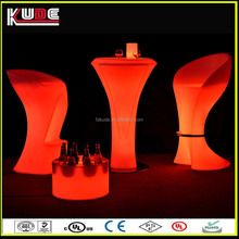 modern plastic bar high top tables LED illuminated outdoor led table furniture