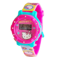 Children digital diamond slim watch