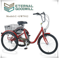 cargo tricycle with folding basket used for family electrical tricycle GW 7012