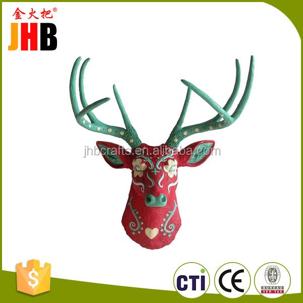 custom dier hoofd standbeeld home wanddecoratie hars