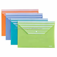 Color PVC/PP Plastic document envelope types of plastic folders