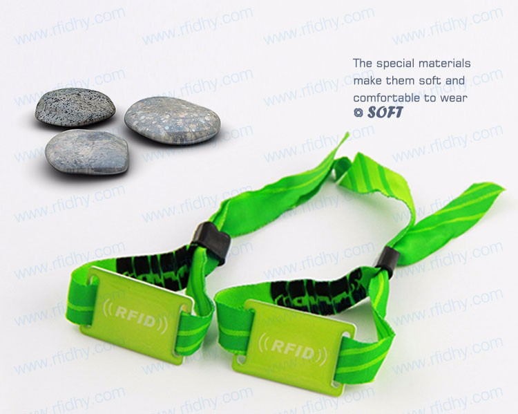 HYWNL01 MIFARE Ultralight Woven RFID Wristband for Festival