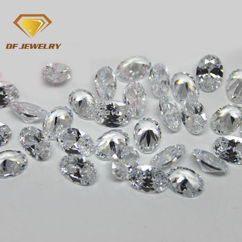 5A diamond cut oval clear zircon stone price