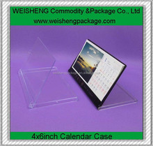 Clear cd box/cd calendar case/cd calendar holder