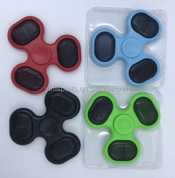 New music player bluetooth wireless speaker hand fidget finger speaker spinner factory