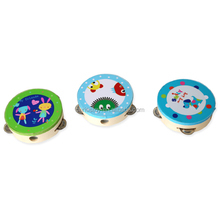 Kindergarten dance hand drum child cartoon hand bell tumbler Orff percussion music learning instrument tambourines for sale