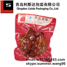 plastic vacuum food packaging bag/braised pig feet bag