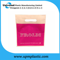 cheap LDPE/HDPE plastic bag shopping bag with die cut handle