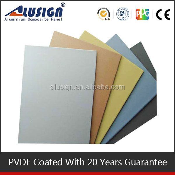 Alusign ceiling materials new innovation stone texture aluminum composite sheet panel for wall decoration