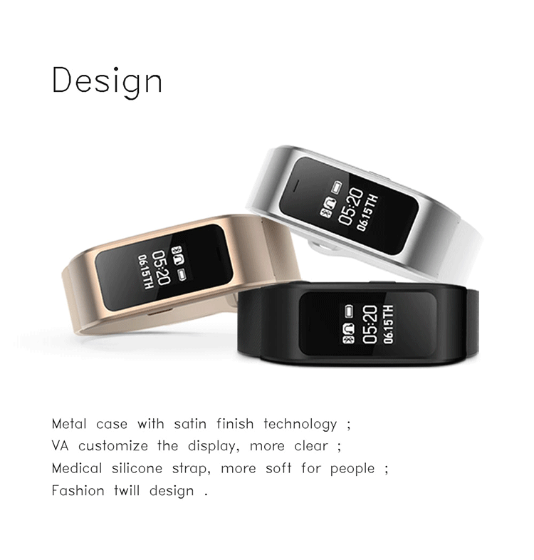 Fashion design A96  bluetooth talk answer smart bracelet hands-free calling wristband for Android IOS