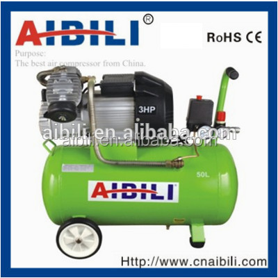 AIBILI Portable V TYPE two cylinder 3hp direct driven piston air compressor IBL50V