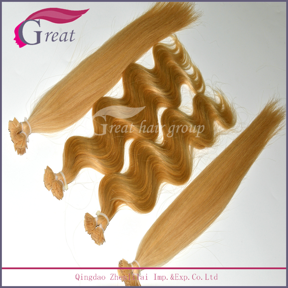 red micro beads hair extension