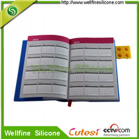 2014 calendar diary with blocks design silicone cover