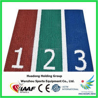 IAAF Athletic Track Type Synthetic Rubber Race Track for Track and Field