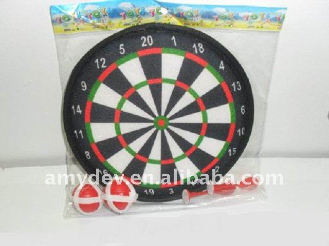 Dart board game with 2 ball and 2 swoops for kids make of cloth