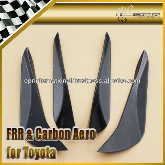 For Toyota FT86 GT86 Scion FRS FT86 PJDM Style Carbon Front Bumper Inner Outter Canard Set