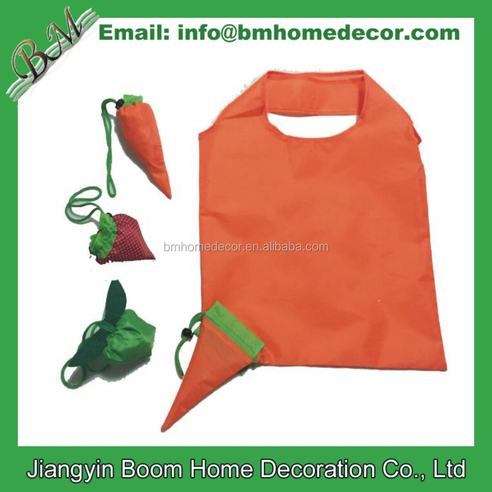 Strawberry Foldable Shopping Bag / Carrot Foldable Shopping Bag / Apple Foldable Shopping Bag