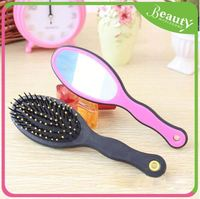 Hair brush and comb sets with mirror set ,ynbj mens plastic hair brushes