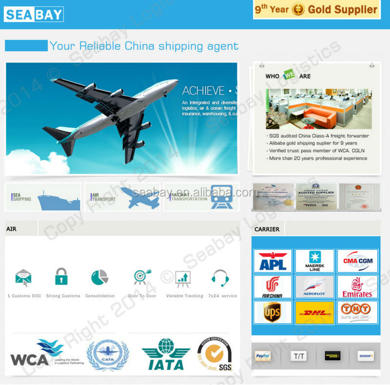 Seabay China air freight for import export iraq