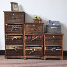 Chinese wholesale rustic distressed wood cabinet
