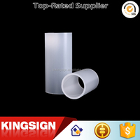 kingsign good quality bright clear plastic clear or diffuser acrylic tube