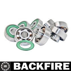 Backfire Skateboard Bearings, Built-In Spacers, Extended Ceramic (Pack of 8) Professional Leading Manufacturer