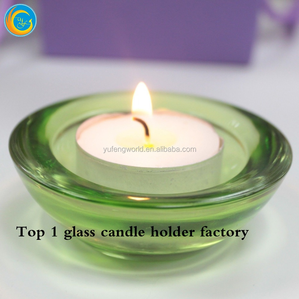 Custom color sprayed glass candle container yufeng craft