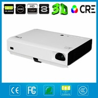 Free gift 3D glasses Full HD 1280*800 Active Shutter 3D DLP LED Projector,mini 3LED LED DLP Proyector