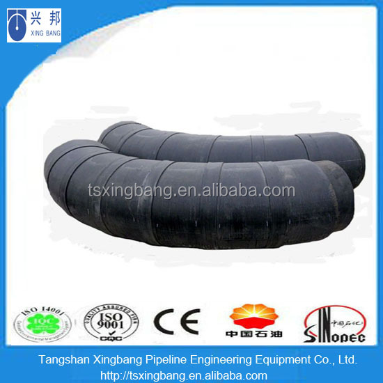 Large diameter black waterproof pipe insulation tube connector elbow