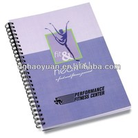 pp spiral bound notebook with pen