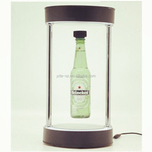 2016 Modern magnetic floating bottle wine display stand