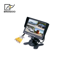 4 Channel Quad 7 inch LCD Monitor Support 4CH Video Input For Bus