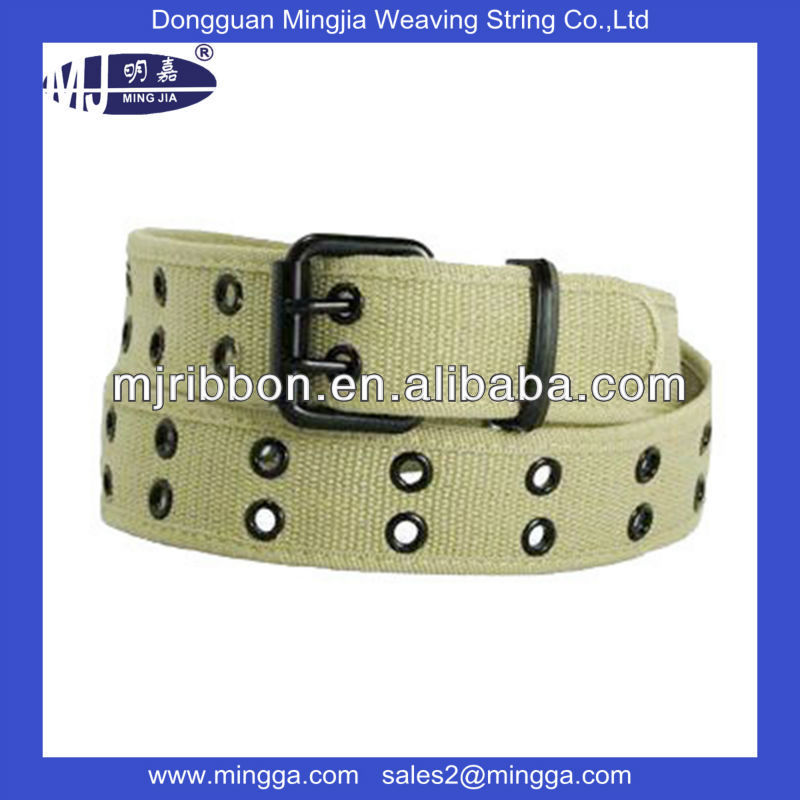 bulk metal buckle with eyelets mens belt