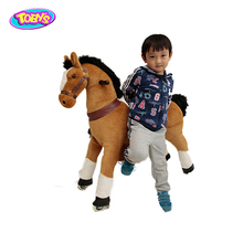 kids mechanical horse toy with rubber wheels ride on animal