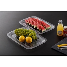 Excellent value for money rectangle plastic planter trays fresh fruit tray