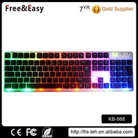 New design wired usb multimedia keyboard with led light