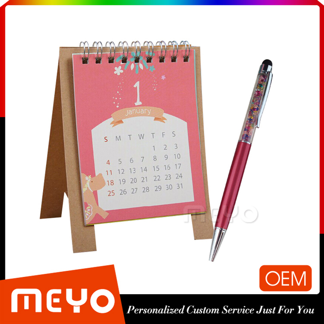 Hardcover paper planning advent calendar with crystal ball pen