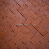 red clinker paving bricks used in plazza made in China