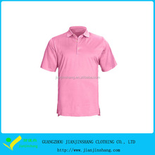 Customized Cool Pass Polyester Stretch Solid Pink Compression Golf T Shirt
