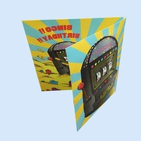 Audio /music /picture play for best gift Full color printing music voice recording greeting card