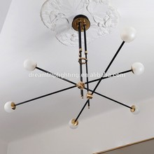 LED Branching glass Bubble shade Modern nordic Chandelier light lamp new designing 2017
