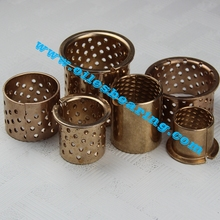best quality CuSn6,CuSn8 straight bronze bearing,bushing with lubrication pockets, grooves or thru <strong>holes</strong>