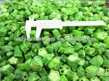 Chinese high quality frozen okra cut, chopped iqf okra