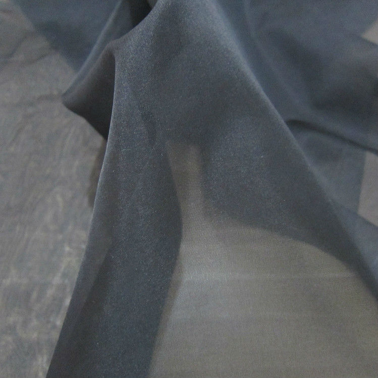 Solid Dyed Organza Silk Fabric Crisp and Transparent