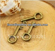 Bronze to hang tags pendant restore ancient ways concise small keys 20 x 8 mm
